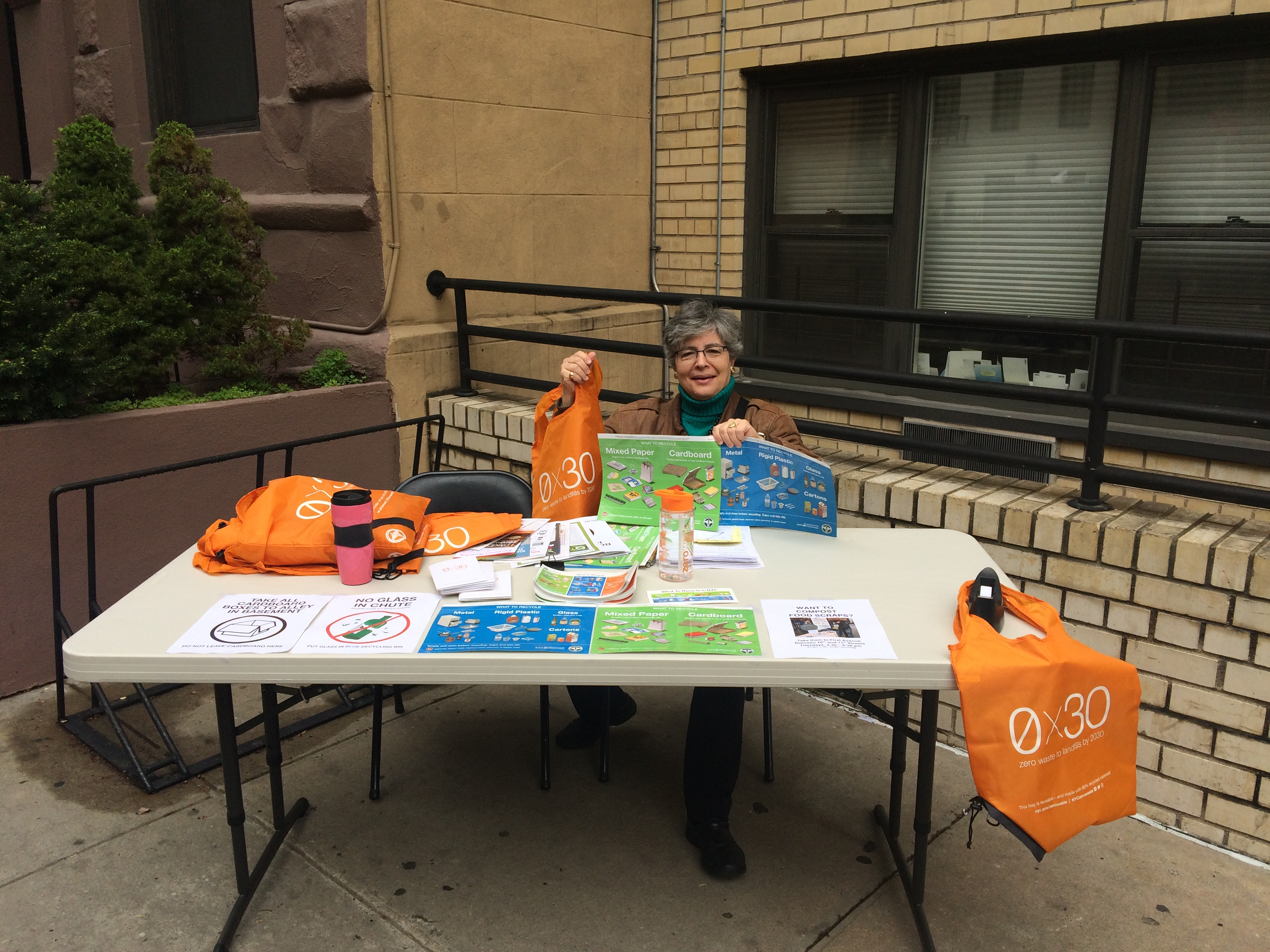 Jacquie Ottman Earth Day NYC Recycling Table