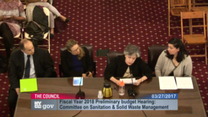 Jacquie Ottman testifying on how to align consumers with zero waste before the New York City Council