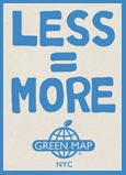 Less=more Green Map NYC Logo
