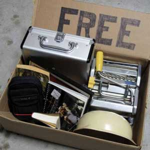 Box of loose free items to give away