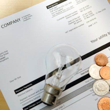 Energy bill and light bulb