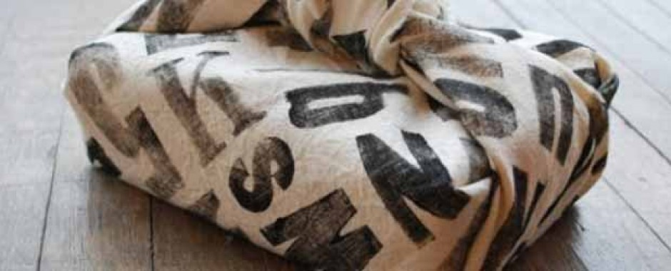 Replace single use wrapping paper with cloth bags