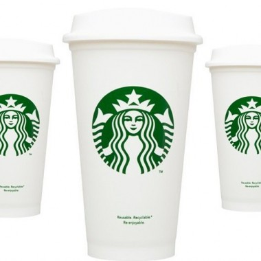 Starbucks non-disposable $1 plastic cups