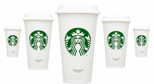 Starbucks recycable $1 plastic cups