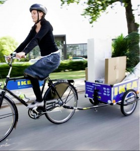 Ikea provides bikes to transport products