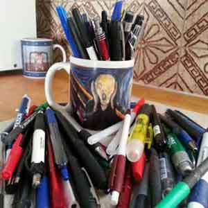 Excess Ballpoint pens that are disposable