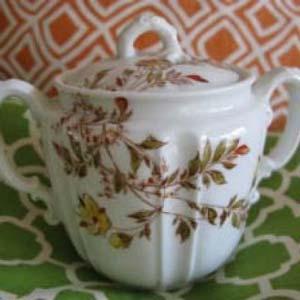 Porcelain sugar bowl exemplifies reusable packaging