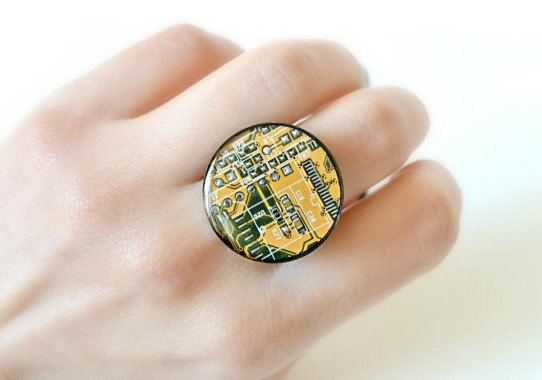 Upcycled E-Waste Ring