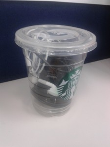 re-use starbucks cup