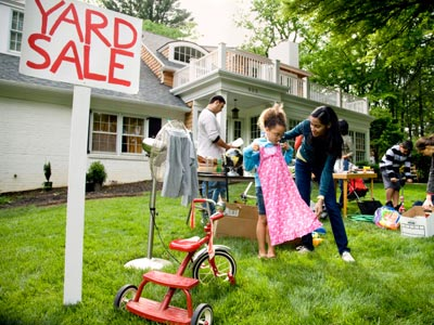 Sell your stuff at a tag sale