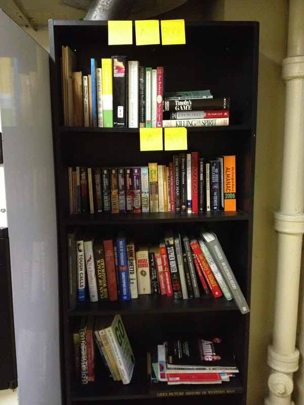 Free library in apartment building