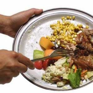 Throwing away food