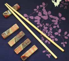 Old kimonos upcycled into beautiful chopstick rests demonstrating mottainai principle