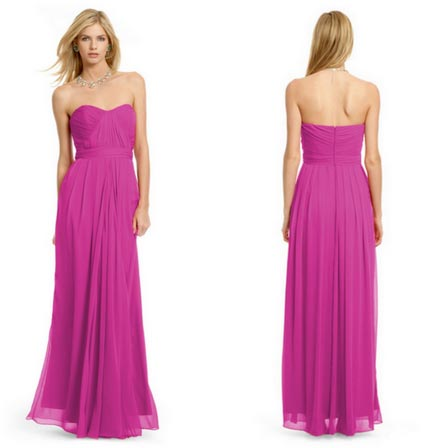 front and back view of pink column formal dress rent not buy dresses