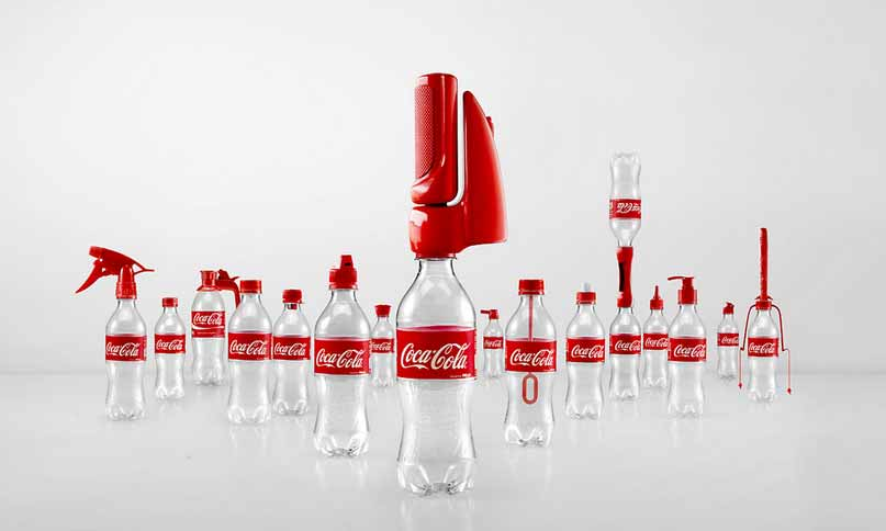 upcycle coke coca cola plastic bottles
