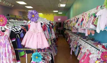 Thrift store shopping for kids image