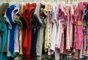 Image of thrift store clothes for kids