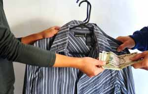Get cash for donating clothing to a thrift store