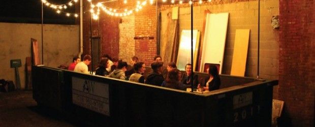 Salvage Supperclub dines in a Brooklyn dumpster (Image: Bill Gordon)