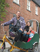 Beavan drives the family vehicle (image: Paul Dunn for YES! Magazine)