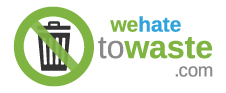 We Hate to Waste logo