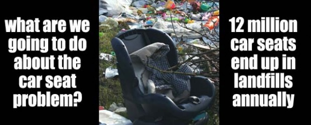 12 million child car seats wind up as waste in the U.S. each year (Image: WHTW / safetysquad.com)