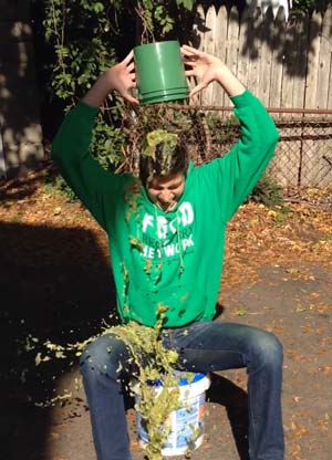 Food Recovery Network's Ben Simon participates in the Scrap Bucket Challenge