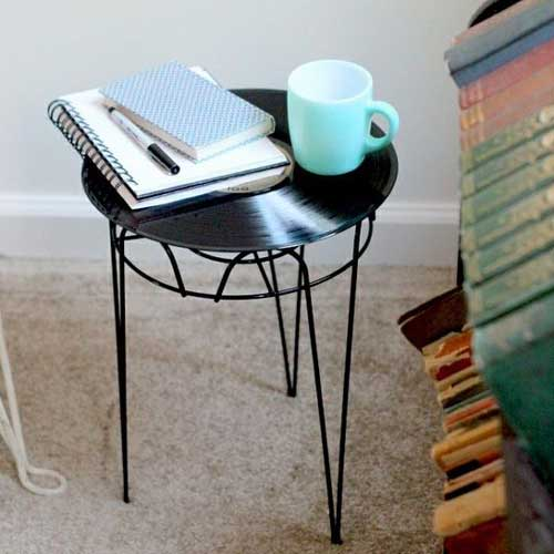 Vinyl Record Side Table