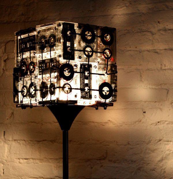 Stunning Cassette Tape Floor Lamp