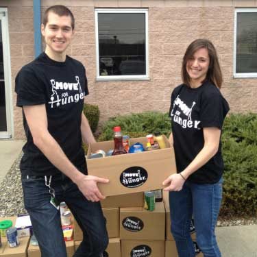 The Move For Hunger team make it easy for your unwanted food to get to a local food bank