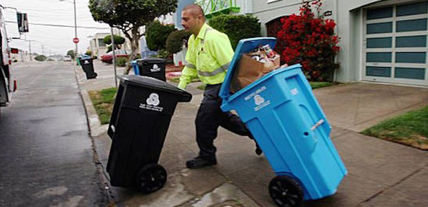 Image of recycling and composting in San Francisco