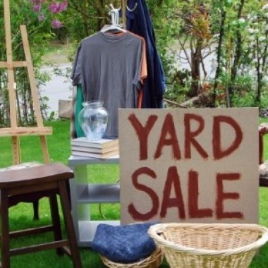 Yard Sale to Reduce Landfill Waste