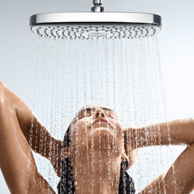 Showering while conserving water
