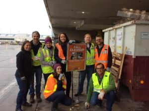 Portland PDX Waste Minimization Team Fall Cleanup