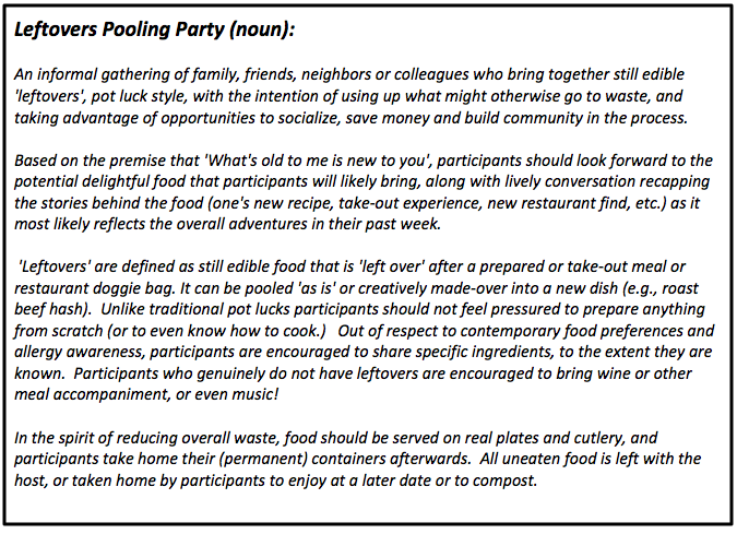 Leftovers Pooling Party definition
