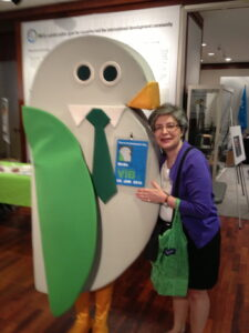 Jacquie Ottman and GreeNYC's Birdie advocate for NYC Zero Wastse