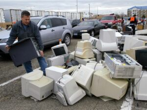 1% of the New York City waste stream is electronics.