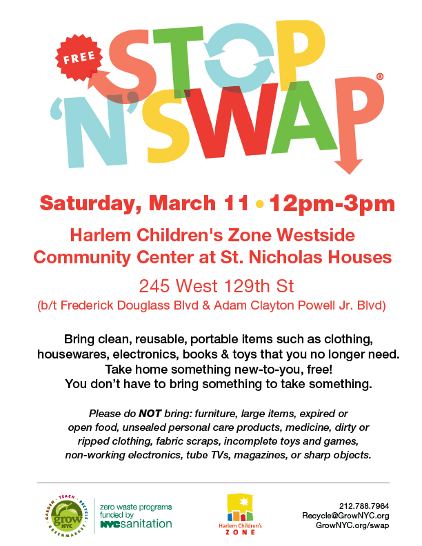 Harlem Stop 'N' Swap promotes sustainability and cuts waste