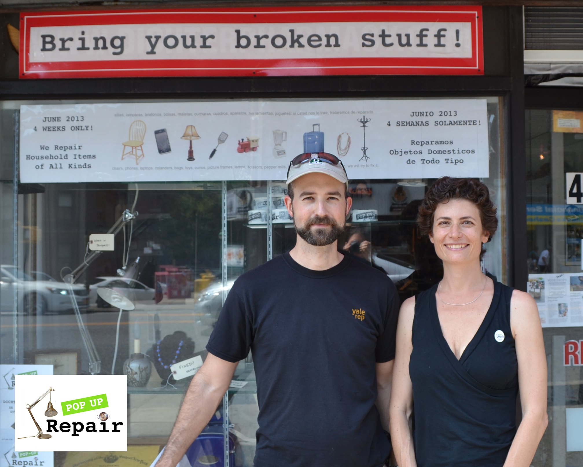 Pop Up Repair NYC Founder Sandra Goldmark and Michael Banta