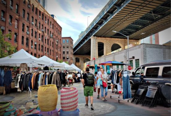 Flea Market In NYC's DUMBO