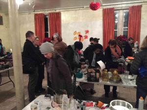 Swap, Share, Shmooze event in NYC's Hell's Kitchen neighborhood