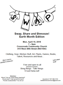 Swap Share Schmooze Hell's Kitchen NYC