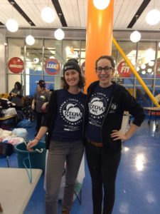 Coordinators Kathleen and Victoria manage the Stop 'N' Swap sustainable reuse events
