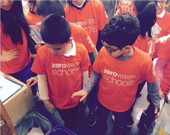 Students in a NYC Zero Waste School