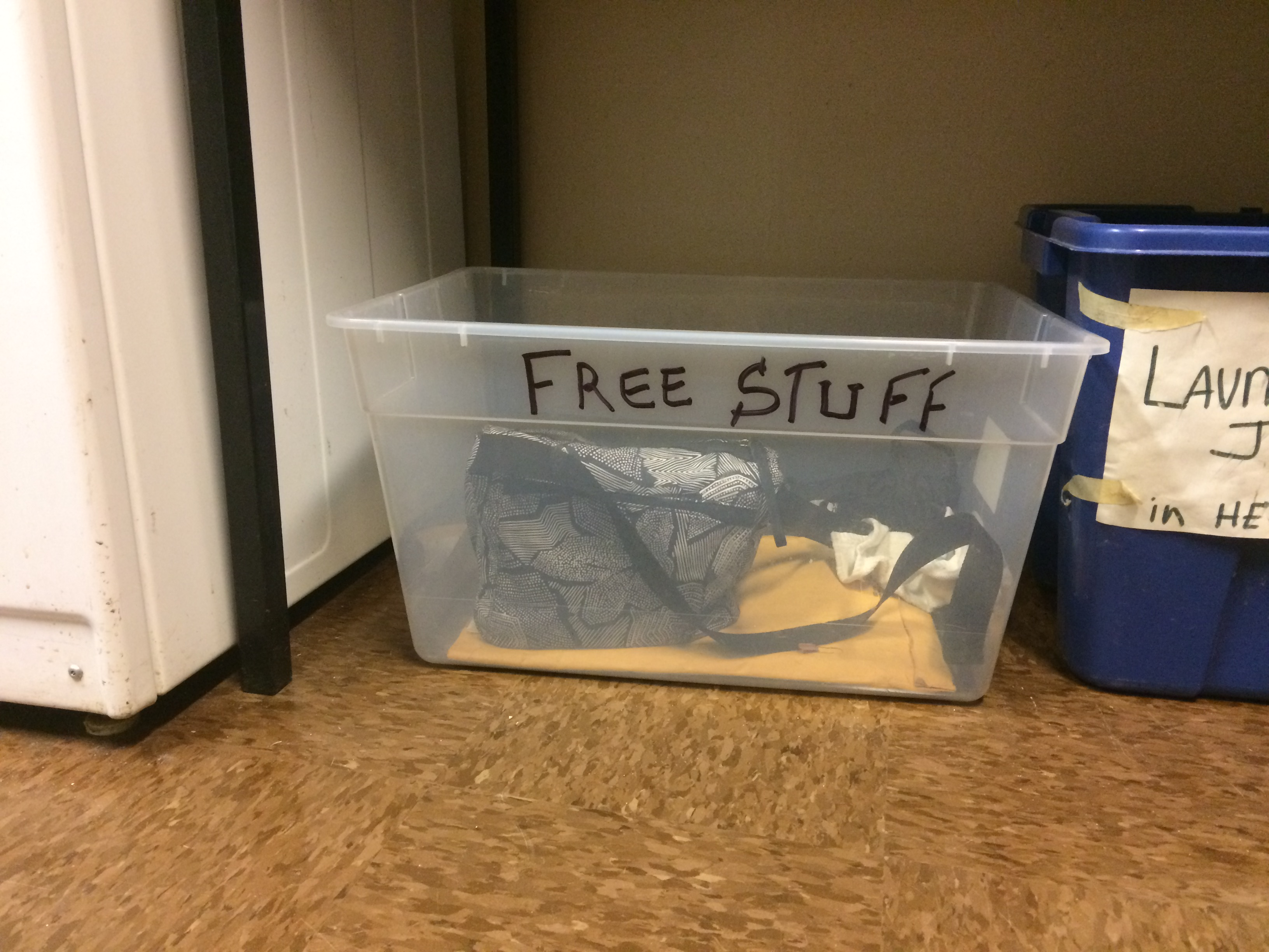 Free Stuff box makes it easy to reuse