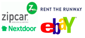 Sharing Economy logos ebay rent the runway